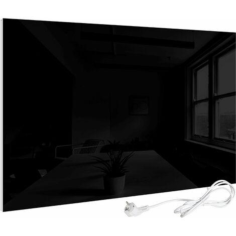 VIESTA H450-GS Glas Infrarotheizung 450W, schwarz, mit Ein-Ausschalter - Heizpaneel mit höchstem Wirkungsgrad dank Carbon Crystal Technologie, flache Glasheizung aus Sicherheitsglas, Elektroheizung mit Überhitzungsschutz