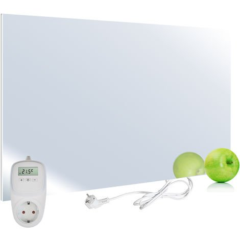 VIESTA H450-SP Chauffage infrarouge 450 watts, miroir + thermostat VIESTA TH10