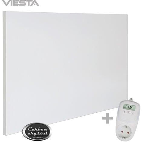 """main image of """"VIESTA H500 Infrarotheizung Carbon Crystal (neueste Technologie), ultraflache Wandheizung, weiß, 500 Watt, ohne Rahmen - VIESTA TH10 Thermostat"""""""