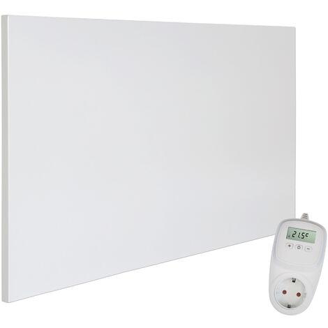 Viesta H600 Panel Radiador de infrarrojos Carbon Crystal (última tecnología) Calefacción ultradelgado Blanco de 600W + Viesta Termostato TH10