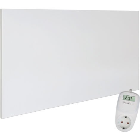 Viesta H700 Panel Radiador de infrarrojos Carbon Crystal (última tecnología) Calefacción ultradelgado Blanco de 700W + Viesta Termostato TH10