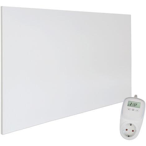 Viesta H900 Panel Radiador de infrarrojos Carbon Crystal (última tecnología) Calefacción ultradelgado Blanco de 900W + Viesta Termostato TH10