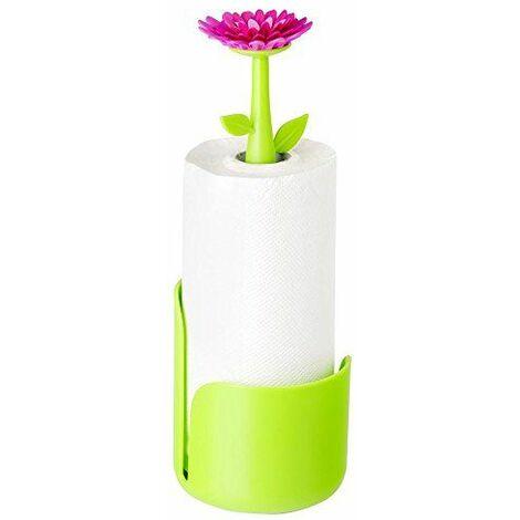 Vigar 7036 Flower Power Dérouleur Essuie Tout Plastique Vert 15 x 15 x 45 cm