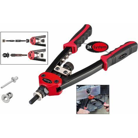 Vigor Pince à riveter universelle pour rivets aveugles et écrous à sertir - Longueur totale: 320 mm - V3735