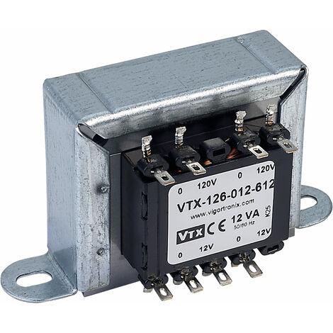Vigortronix VTX-126-012-612 Chassis Mains Transformer 12VA 2x 0-12V