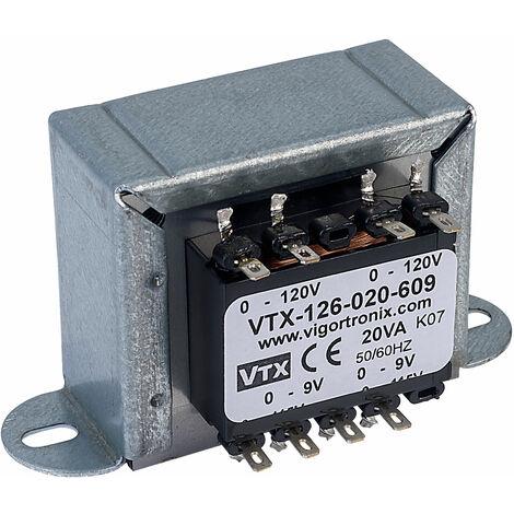 Vigortronix VTX-126-020-609 Chassis Mains Transformer 20VA 2x 0-9V