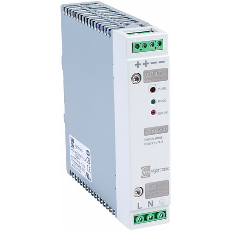 Vigortronix VTX-211-050-112 50W DIN Rail Power Supply 90-264V AC - 12V DC