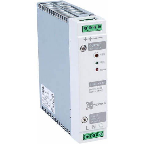 Vigortronix VTX-211-070-112 70W DIN Rail Power Supply 90-264V AC - 12V DC