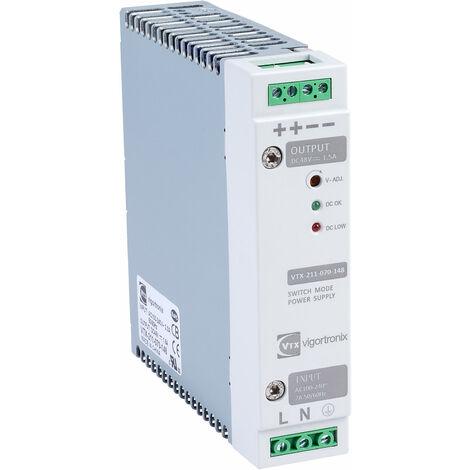 Vigortronix VTX-211-070-148 70W DIN Rail Power Supply 90-264V AC - 48V DC
