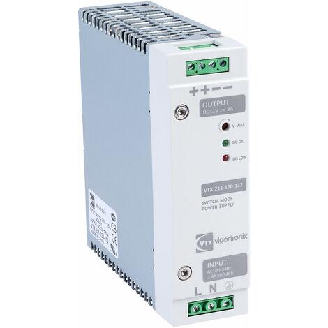Vigortronix VTX-211-120-112 120W DIN Rail Power Supply 90-264V AC - 12V DC