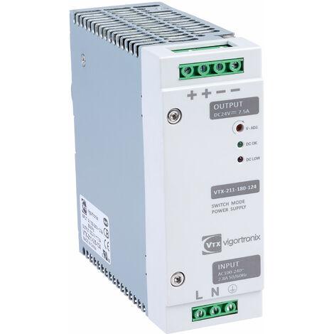 Vigortronix VTX-211-240-148 240W DIN Rail Power Supply 90-264V AC - 48V DC
