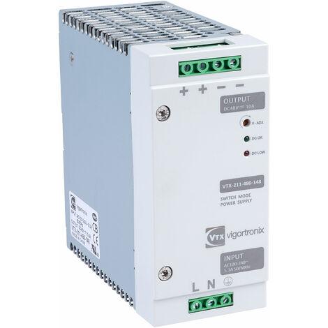 Vigortronix VTX-211-480-148 480W DIN Rail Power Supply 90-264V AC - 48V DC