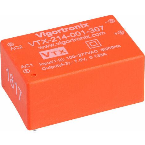 Vigortronix VTX-214-001-307 1W HIGH PERFORMANCE AC-DC CONVERTER 85-305V - 7.5V