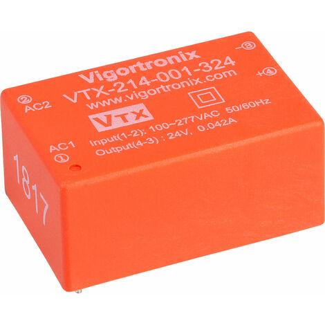Vigortronix VTX-214-001-324 1W HIGH PERFORMANCE AC-DC CONVERTER 85-305V - 24V