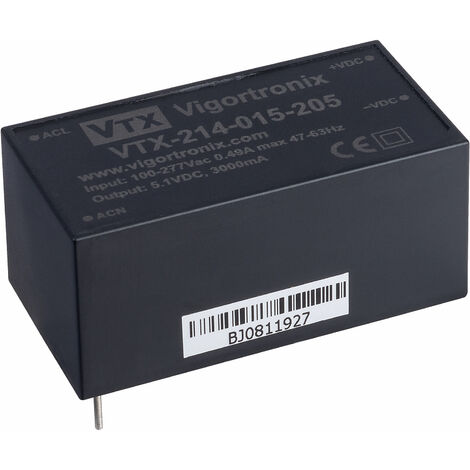Vigortronix VTX-214-015-205 15W 90-305V Input AC-DC Converter 5V
