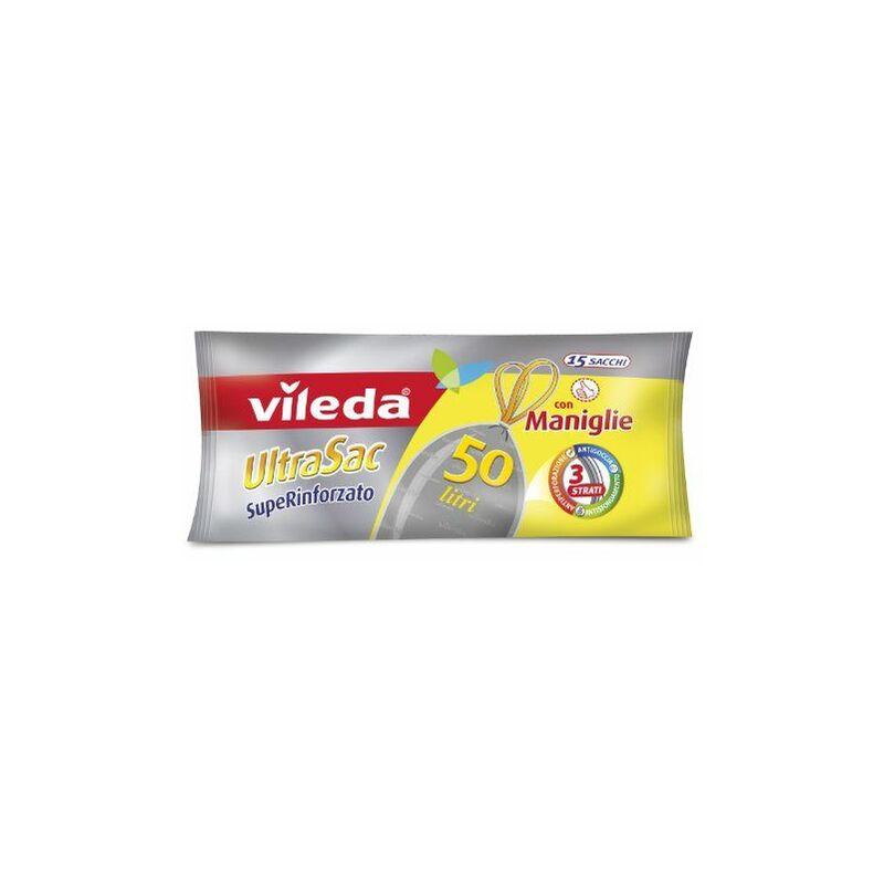 124309 SuperSac Sacs poubelle renforcés avec poignée 50l - Vileda