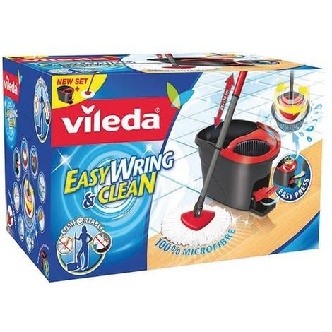 VILEDA - Set Easywring clean balai + seau à essorage rotatif