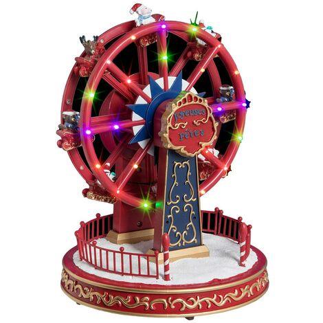 Village de Noël à la fête foraine - Multicolore