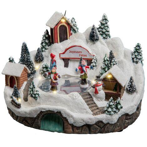 Village de Noël à la montagne - Blanc