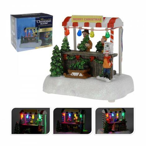 Village de Noël avec lumières 2xaa