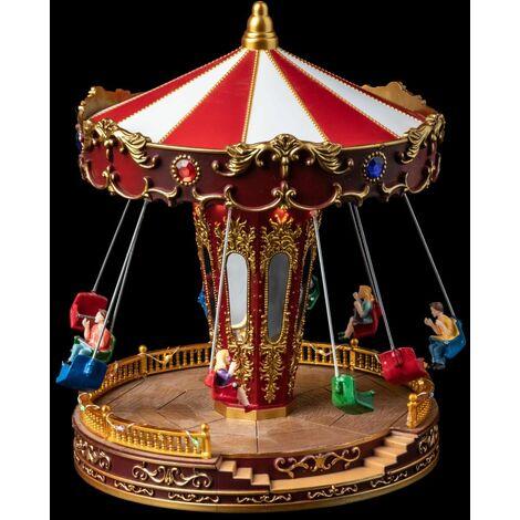 Village de Noël Carrousel et Chaises volantes - Fééric Christmas - Carrousel chaises