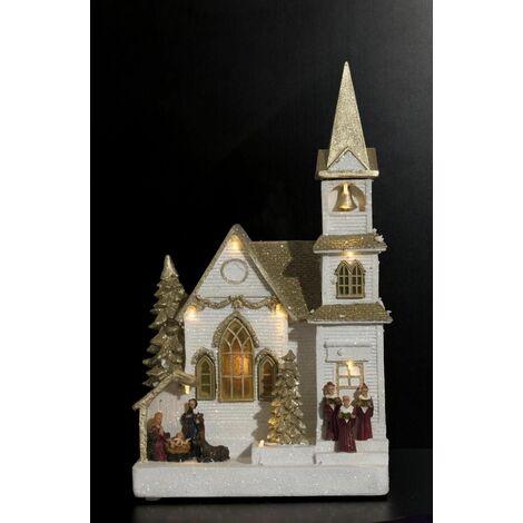 Village de Noël Église Dorée - Fééric Christmas - Eglise dore
