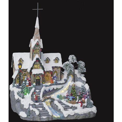 Village de Noël Église du Village - Fééric Christmas - Multicolore