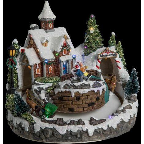 Village de Noël Eglise - Fééric Christmas - Multicolore