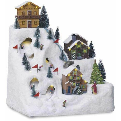 """main image of """"Village de Noël lumineux - montagne et station de ski"""""""