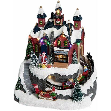 Village de Noël lumineux Train + Atelier - Nos envies déco