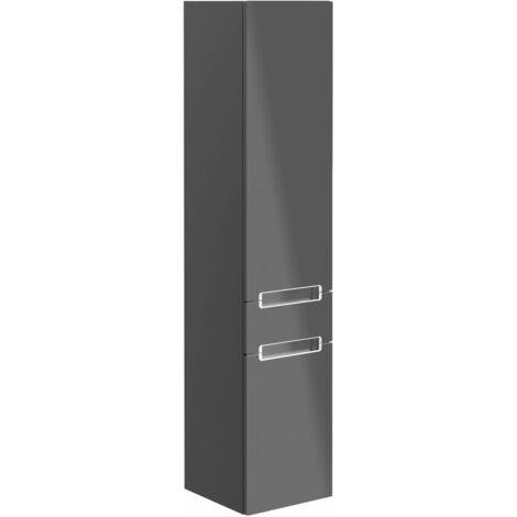Villeroy & Boch Armoire haute Subway 2.0 A707, 2 portes et 1 tiroir, butée gauche, Coloris: Elm Impresso, manche : chrome brillant - A70710PN