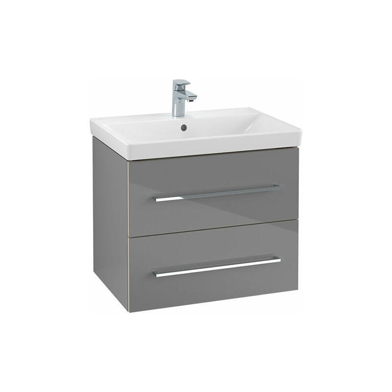 Villeroy Und Boch Ag - Villeroy & Boch Avento Módulo de lavabo A899000, 2 extraíbles, anchura 630mm, color: Negro Cristal - A89000B3
