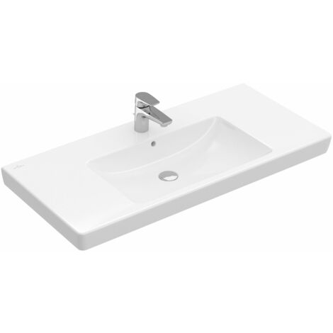 Villeroy & Boch cupboard washbasin Subway 71751G 1000x470mm, with overflow, 1 tap hole, colour: White - 71751G01