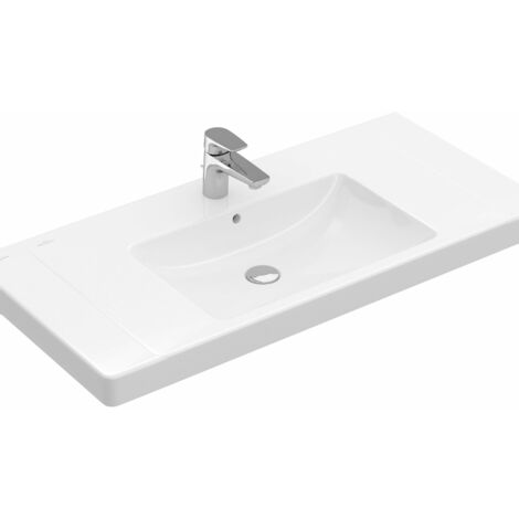Villeroy & Boch cupboard washbasin Subway 717580 800x470mm, with overflow, 1 tap hole, colour: White - 71758001