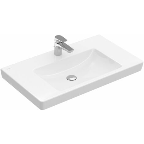 Villeroy & Boch cupboard washbasin Subway 717581 800x470mm, without overflow, 1 tap hole, colour: White - 71758101