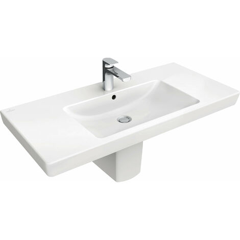Villeroy & Boch cupboard washbasin Subway 7175A0 1000x470mm, with overflow, 1 tap hole, colour: White - 7175A001