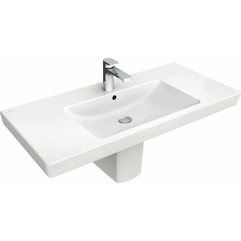 Villeroy & Boch cupboard washbasin Subway 7175A0 1000x470mm, with overflow, 1 tap hole, colour: White Ceramicplus - 7175A0R1