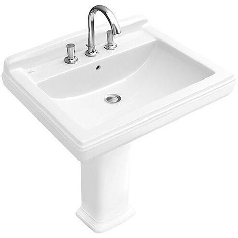 Villeroy & Boch HOMMAGE Waschtisch 650 x 530 mm weiß ceramicplus