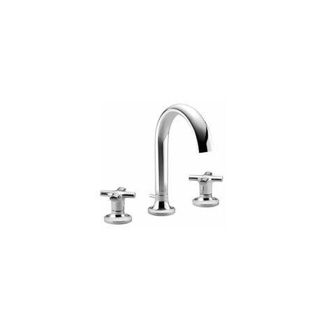 Villeroy & Boch LA FLEUR mezclador de lavabo de tres agujeros, cromado, color: cromado - 20710957-00