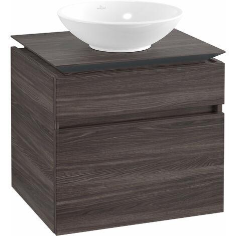 Villeroy & Boch Legato Meuble sous-lavabo B121, 600x550x500mm, centre lavabo, Coloris: Chêne Graphite - B12100FQ