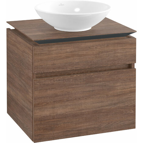 Villeroy & Boch Legato Meuble sous-lavabo B121, 600x550x500mm, centre lavabo, Coloris: Chêne Santana - B12100E1
