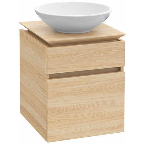 Villeroy & Boch Legato Meuble sous-lavabo B121L0, 600x550x500mm, Centre lavabo, éclairage LED, Coloris: bois blanc - B121L0E8