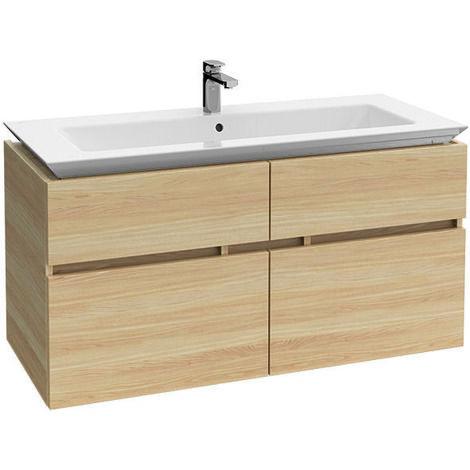Villeroy & Boch Legato Unidad de lavabo B292, 1200x590x500mm, color: Blanco brillante - B29200DH