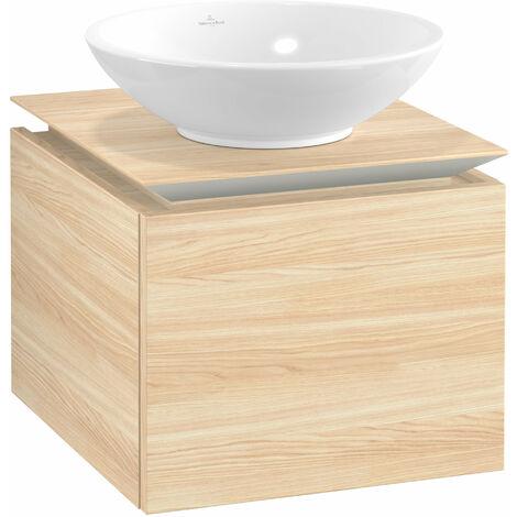 Villeroy & Boch Legato Vanity unit B100, 450x380x500mm, washbasin centric, colour: Elm Impresso - B10000PN