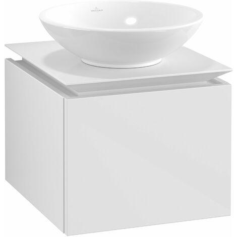 Villeroy & Boch Legato Vanity unit B100, 450x380x500mm, washbasin centric, colour: Glossy White - B10000DH