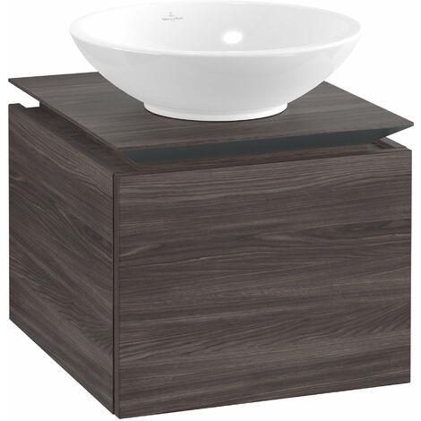 Villeroy & Boch Legato Vanity unit B100, 450x380x500mm, washbasin centric, colour: Oak Graphite - B10000FQ