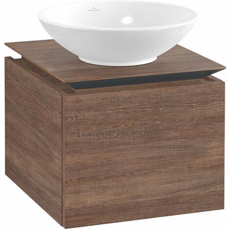 Villeroy & Boch Legato Vanity unit B100, 450x380x500mm, washbasin centric, colour: Santana Oak - B10000E1