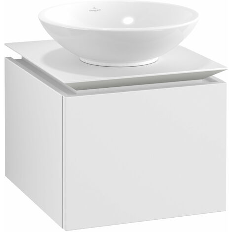 Villeroy & Boch Legato Vanity unit B100, 450x380x500mm, washbasin centric, colour: White Matt - B10000MS