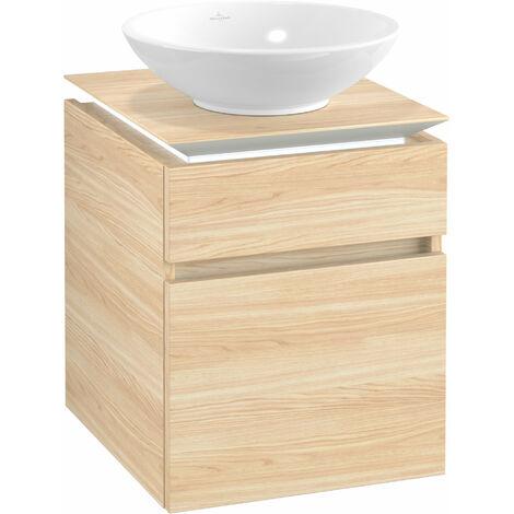Villeroy & Boch Legato Vanity unit B120, 450x550x500mm, washbasin centre, LED lighting, colour: Elm Impresso - B120L0PN