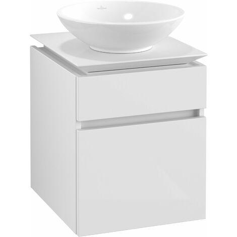 Villeroy & Boch Legato Vanity unit B120, 450x550x500mm, washbasin centric, colour: Glossy White - B12000DH